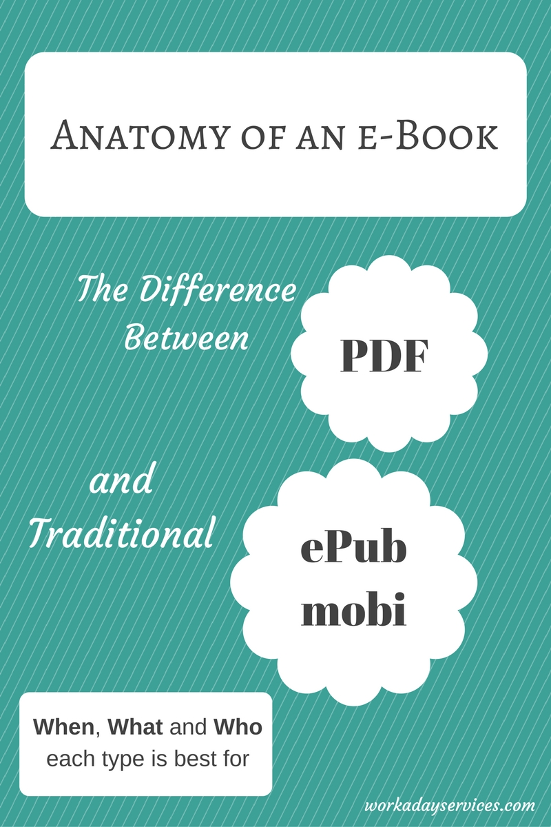There Difference between an PDF e-book and Traditional formats like ePub and mobi