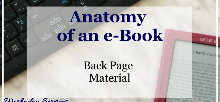 Anatomy of an eBook - Back Page Material