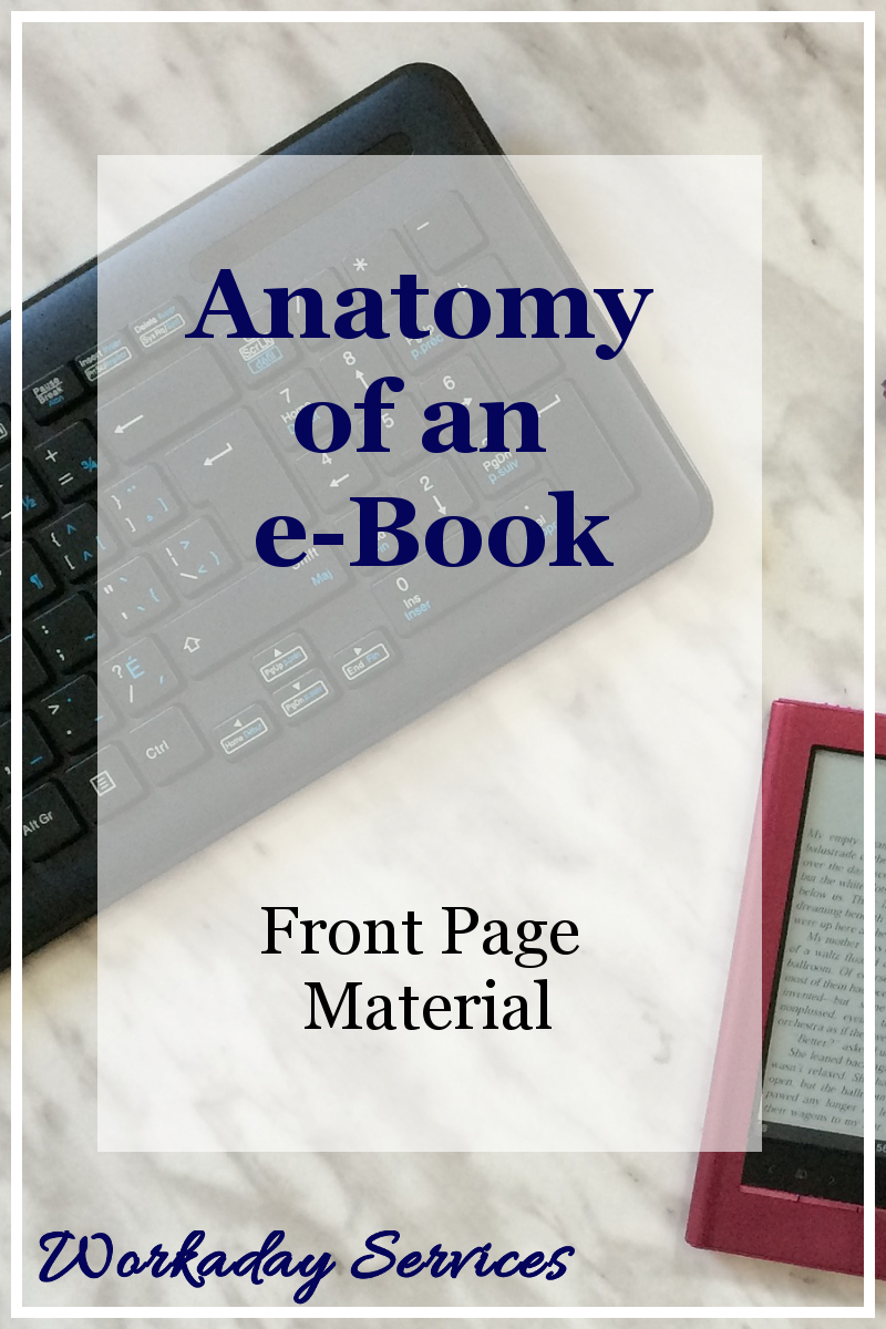 Anatomy of an eBook - Front Page Material