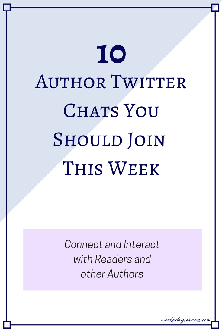 10 Author Twitter Chats You Should Join this Week