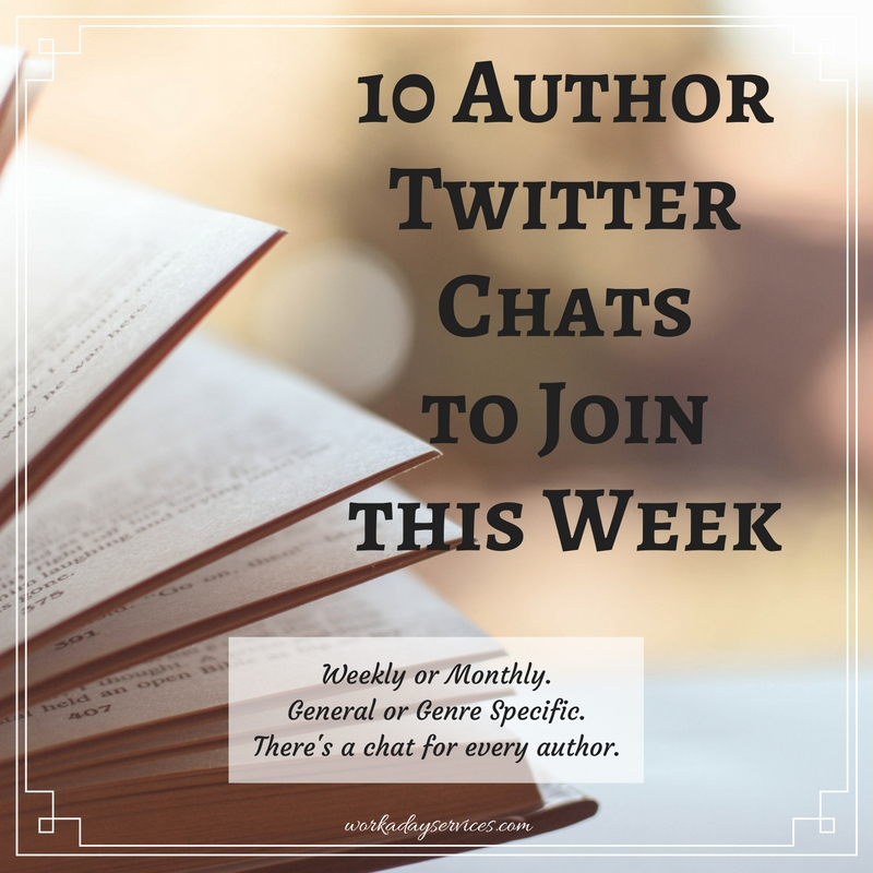 10 Author Twitter Chats to Join This Week