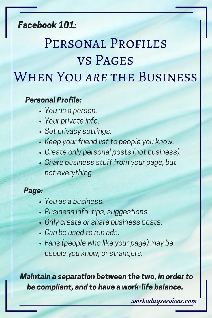 how to create a personal facebook profile