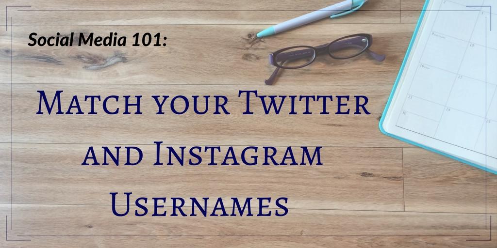 Social Media 101- Match Usernames