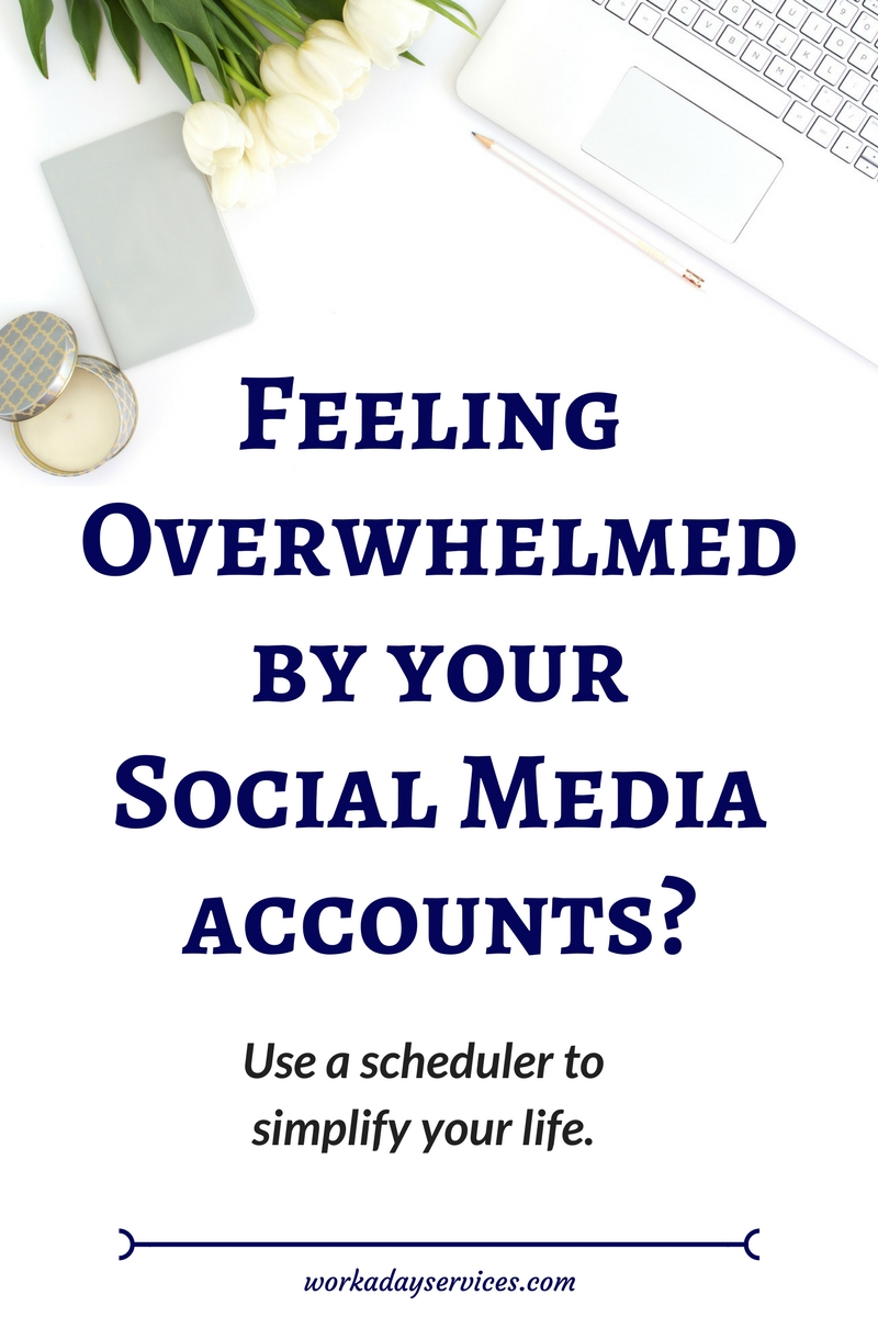 Social Media 101 - Use Schedulers to Avoid Social Media Overwhelm