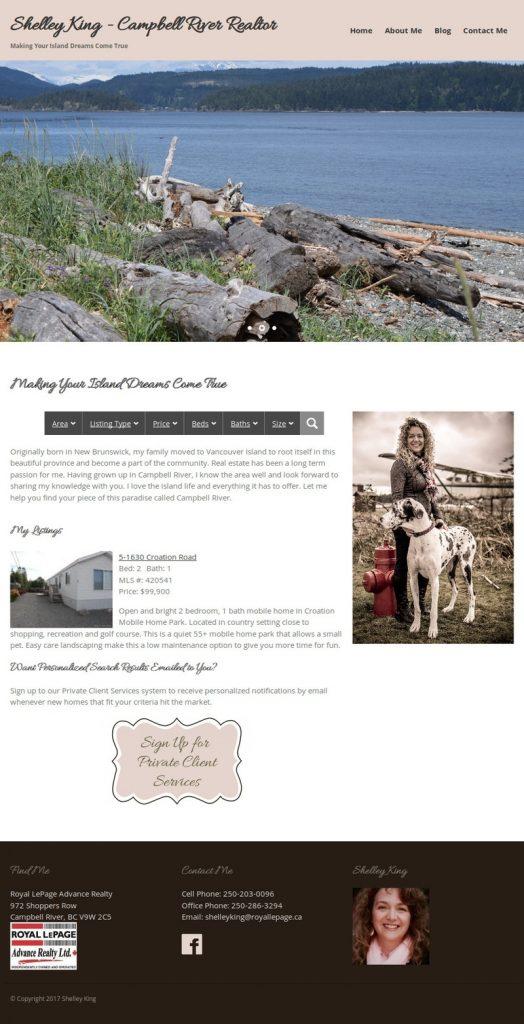Shelley King website screenshot