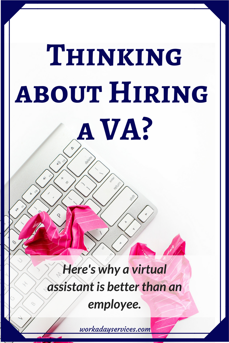 Why Hire a Virtual Assistant pinterest