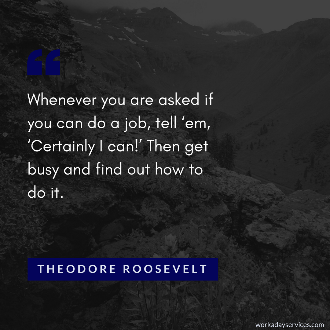 Theodore Roosevelt quote on doing a job