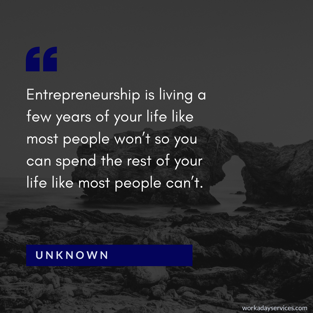 Unknown quote about entrepreneurship