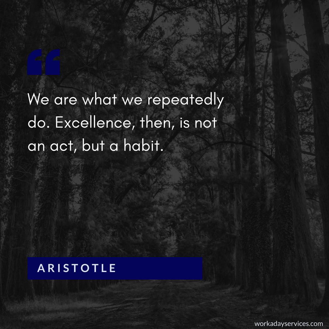 Aristotle quote on habit