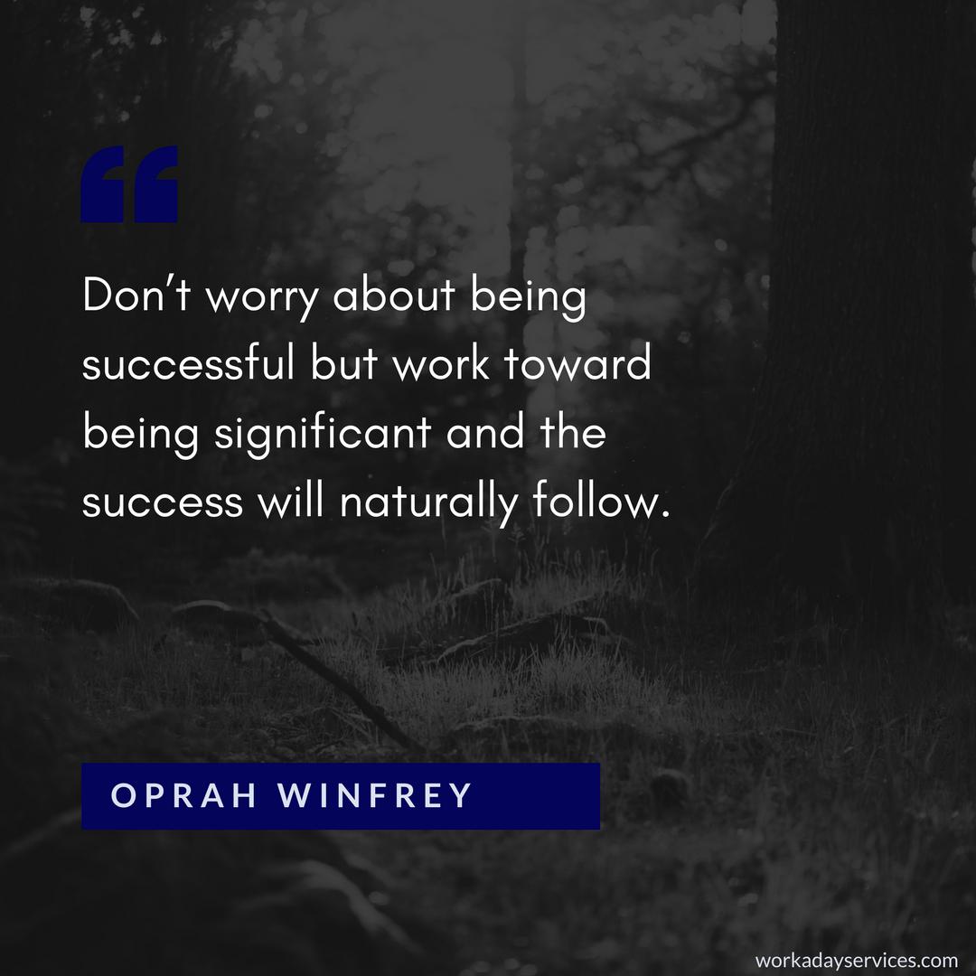Oprah Winfrey quote on success