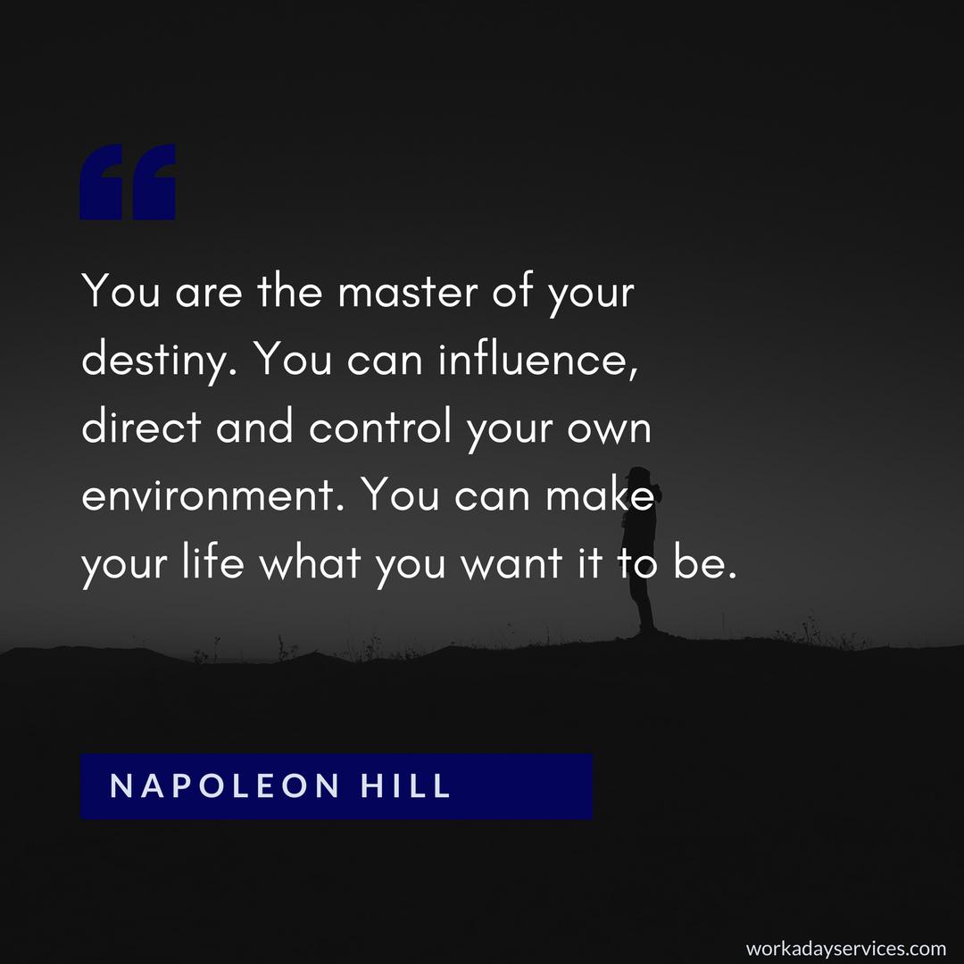 Napoleon Hill quote about destiny