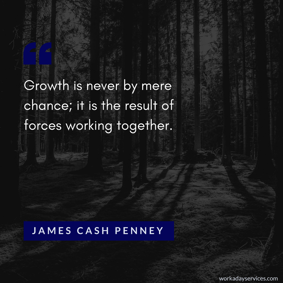 James Cash Penney quote on growth