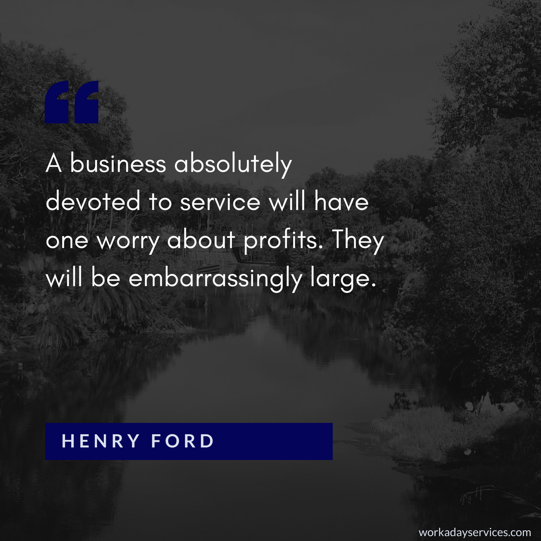Henry Ford quote about service