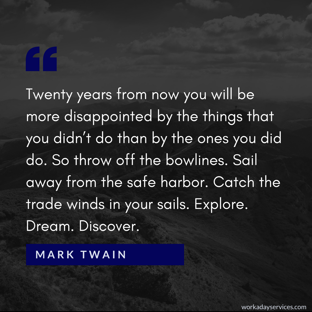 Mark Twain quote about disappointment