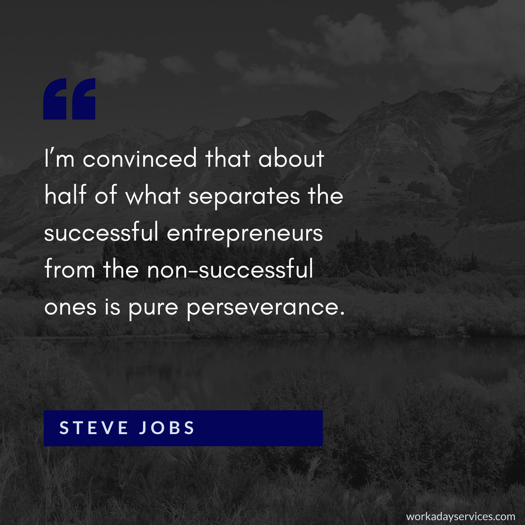 Steve Jobs quote about success