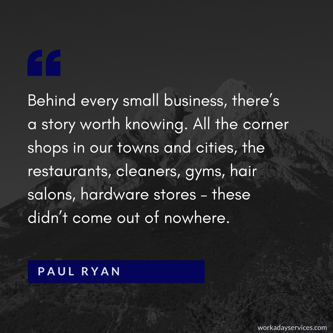 Paul Ryan quote about story behind business