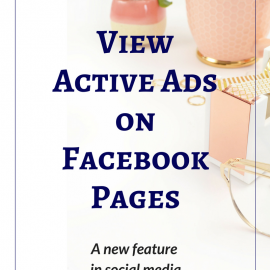 View Active Ads on Facebook Pages