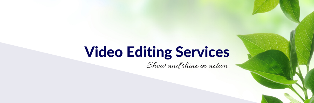 Video Editing Services header